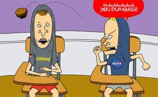 "Illustration for article titled NASA to Doomsday Asteroid Student: ""Shut Up, Dimwit"""