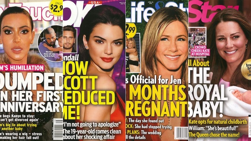 Illustration for article titled This Week In Tabloids:Jennifer Aniston Is More Pregnant Than Ever