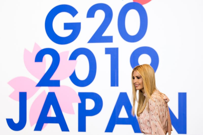 Illustration for article titled Ivanka Trump Inserted Herself Into a G-20 Conversation With World Leaders and Thus #UnwantedIvanka Was Born