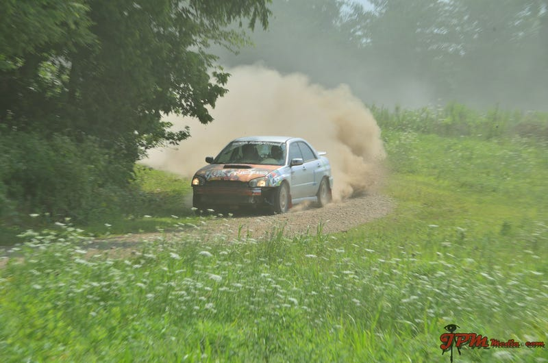 Illustration for article titled Apparently my local rallycross group had a 2 stage rally set up