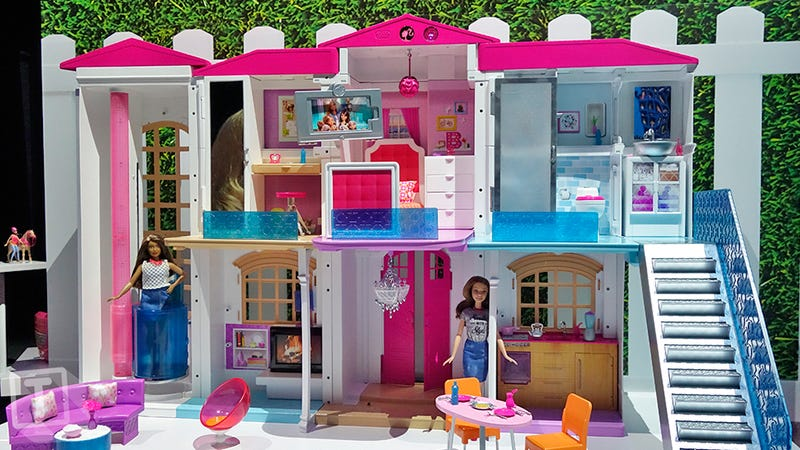 Illustration for article titled Barbie Now Has an Entire Smart Dream House That Responds to Kids' Voice Commands