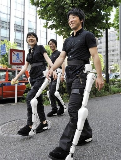 Illustration for article titled The Cyborg Exoskeletons Of The Future Take To The Streets