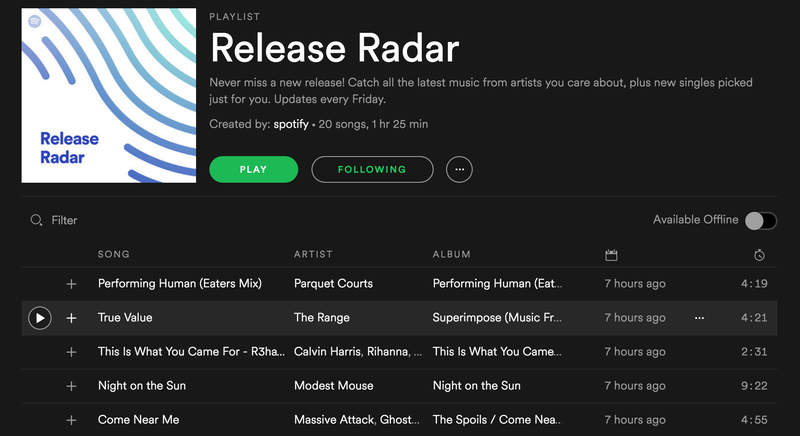 Spotify Uses Its 'Discover Weekly' Magic to Help You Find New Releases