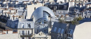 Illustration for article titled This Glistening Steel Armadillo Now Occupies Downtown Paris
