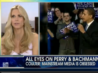 Illustration for article titled VIDEO: Coulter Dredges Up Dirt on Obama