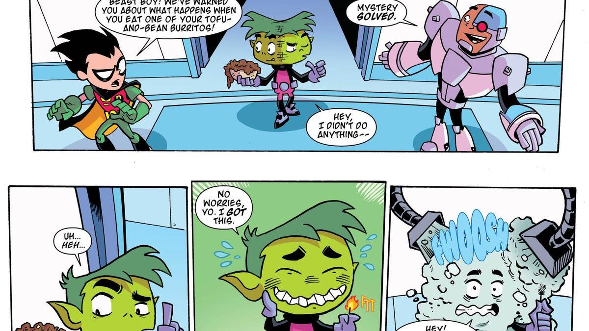 Starfire catches an alien flu in a Teen Titans Go! #17 exclusive