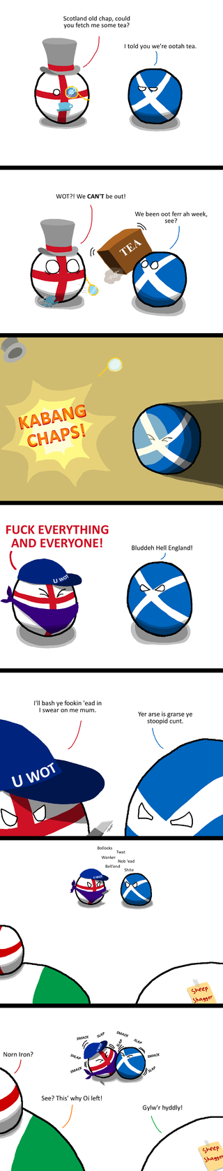 Illustration for article titled Daily Polandball: All Out of Tea