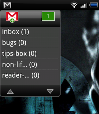 Illustration for article titled GmailWidgetPlus Puts Unread Badges for All Your Gmail Labels on Your Android Home Screen