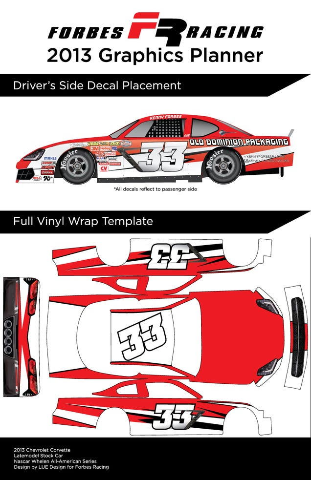 Turning a blank latemodel stock car into a beautiful 2014 for Blank race car templates