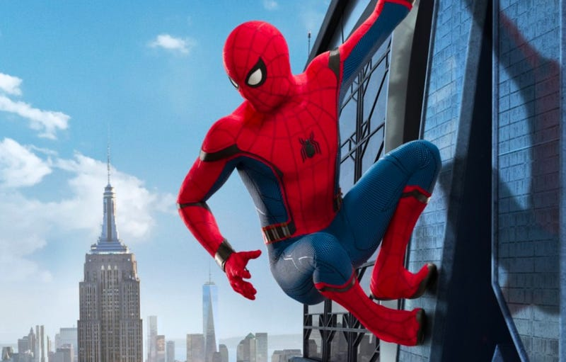 Look at this awesome video, Spidey. Image: Sony