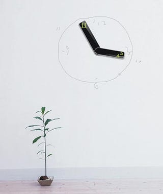 """Illustration for article titled """"Vice Versa"""" Digital Clock Only Needs Its Hands To Serve You"""