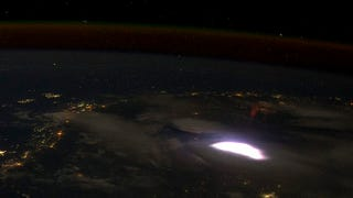 See a Plane's Eye View of a Red Sprite Forming Above the Clouds