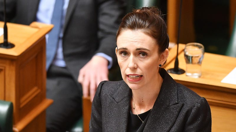 Prime Minister Jacinda Ardern speaks to Parliament on March 19, 2019 in Wellington, New Zealand.