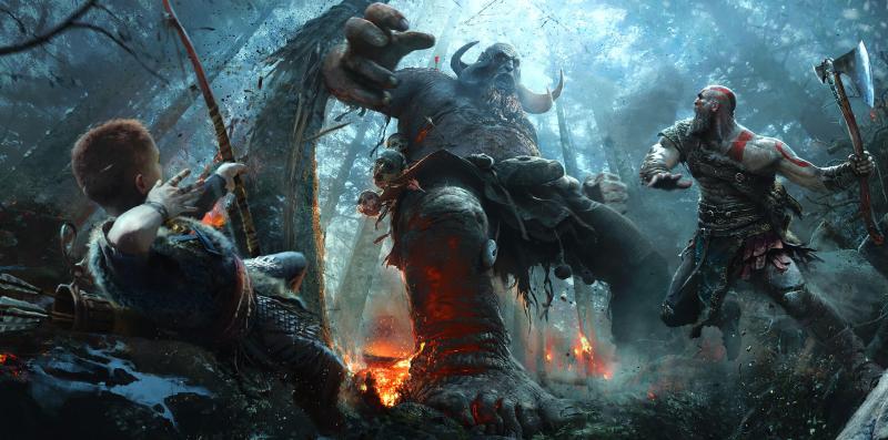 Illustration for article titled El nuevo tráiler de God of War está lleno de batallas épicas contra monstruos mitológicos
