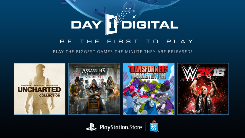 Illustration for article titled Play This Holiday's Games First With PlayStation Store's Day 1 Digital
