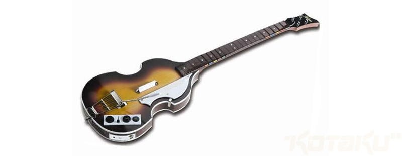 Rock Band Themed Guitar Controllers John Lennons Rickenbacker 325 And George Harrisons Gretsch Duo Jet Now Lets Check Out Paul McCartneys Bass