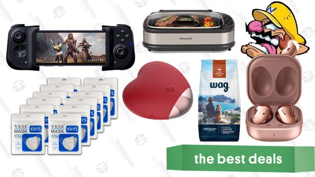 Tuesday s Best Deals: Samsung Galaxy Buds Live, KN95 Masks, Razer Kishi, Wag Dog Food, Roomba i6+, Power XL Smokeless Grill, Don t Text Your Ex Vibe, and More