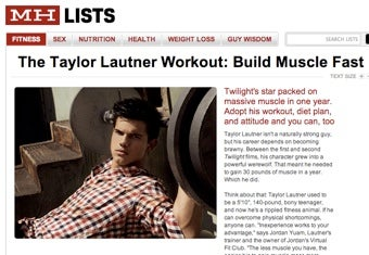 Illustration for article titled Teen Wolf Workout Hits The Pages Of Men's Health
