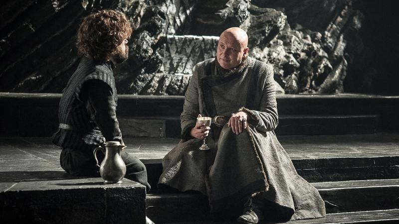 Both the leak and the cover-up seem like the kind of thing Varys would do (Photo: HBO, Helen Sloan)