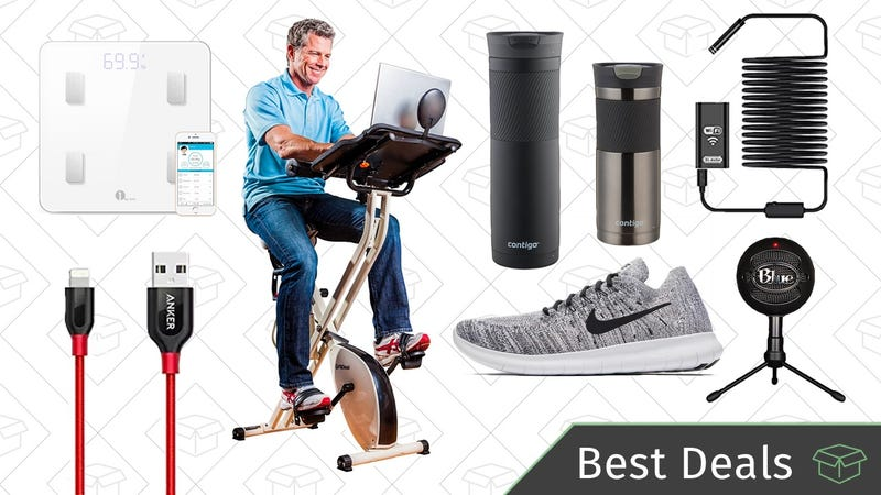 Illustration for article titled Monday's Best Deals: FitDesk, Lightning Cables, Nike Sale, and More