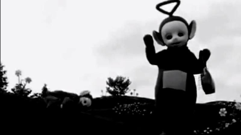 Illustration for article titled The Teletubbies become disturbing performance art in black and white