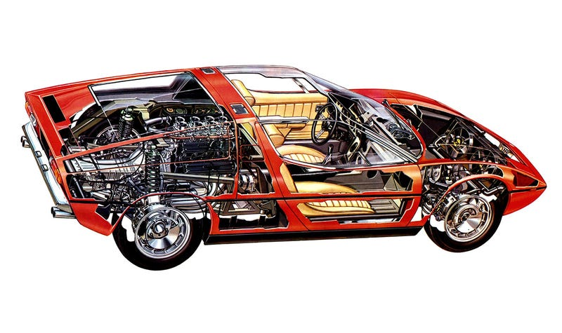Illustration for article titled Borrowed from Petrolicious, a Maser Bora cutaway