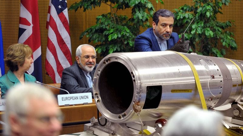 Illustration for article titled Iranian Team Openly Working On Bomb In Negotiating Room