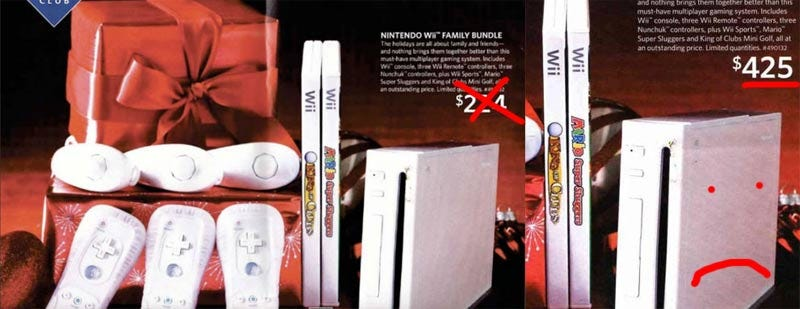 "Illustration for article titled Sam's Club Black Friday Wii Deal Was ""Ha Ha Ha"" Not ""Ho Ho Ho"""