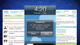 Illustration for article titled HealthTap Express Puts a Doctor on Your Smartphone, Ready to Answer Questions