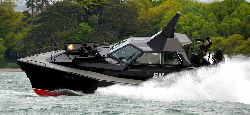 Illustration for article titled Barracuda Is Supposedly The Stealthy Interceptor Boat The World Needs