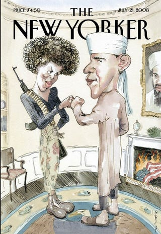 Illustration for article titled The New Yorker On Obama: When Satire Isn't Satirical