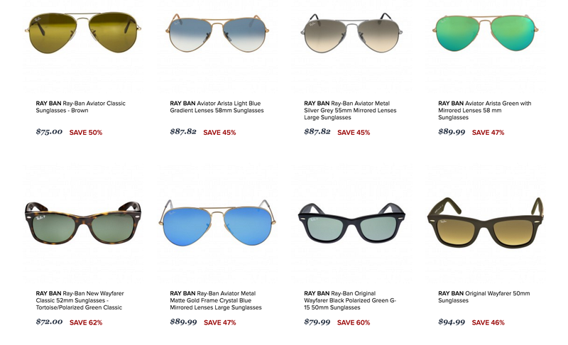 Jomashop Designer Sunglasses Clearance. Free shipping with code FASTSHIP.