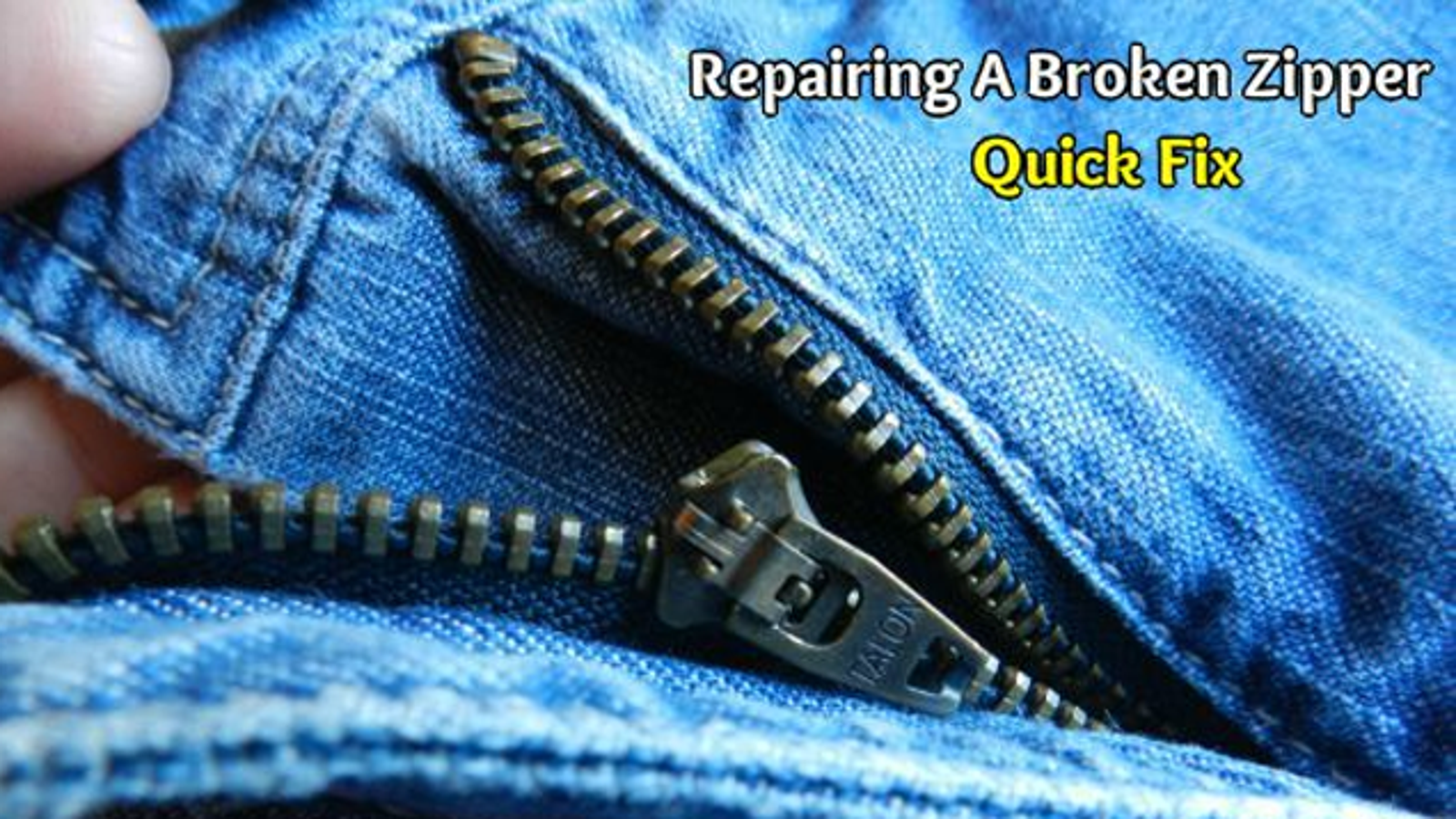 Fix a zipper thats gone off the tracks with a few stitches ccuart Gallery