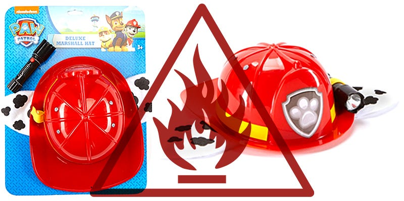 Illustration for article titled Paw Patrol Firefighter Costume Recalled for Being a Fire Hazard