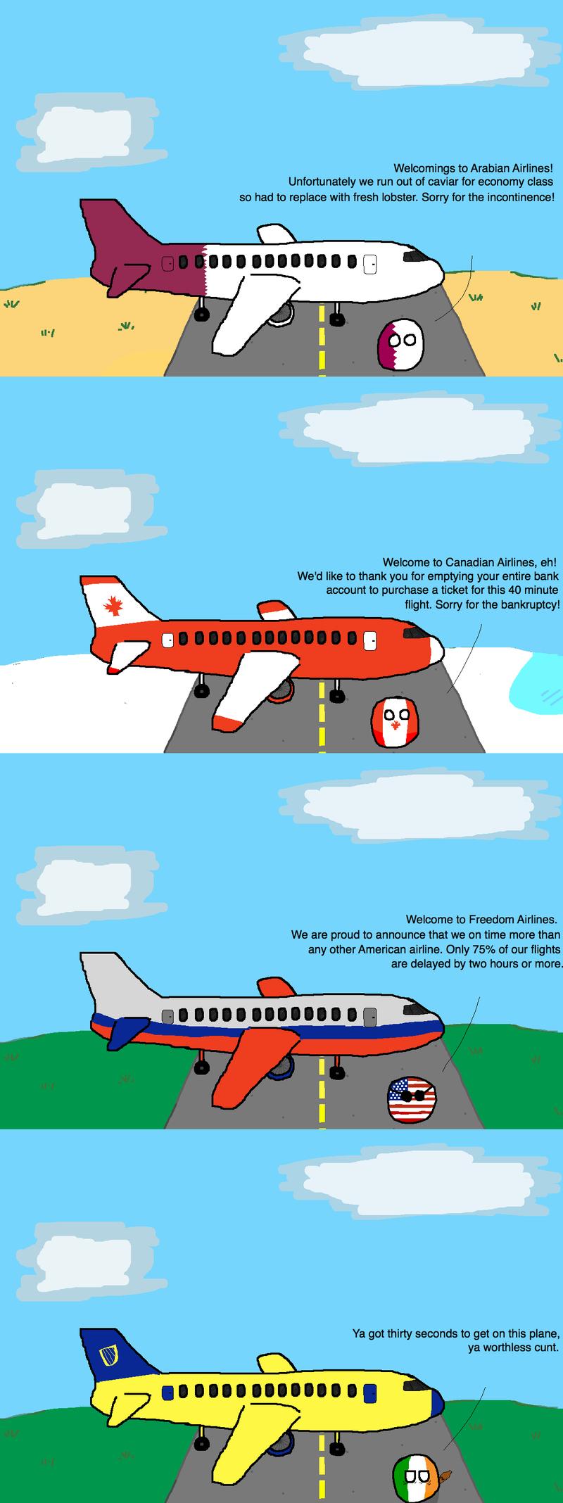 Illustration for article titled Daily Polandball: International Air Travel