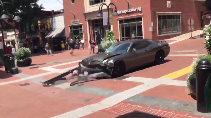 Illustration for article titled Horrifying Video Shows Dodge Challenger Plow Into Crowd Of Protesters In Charlottesville (Update)