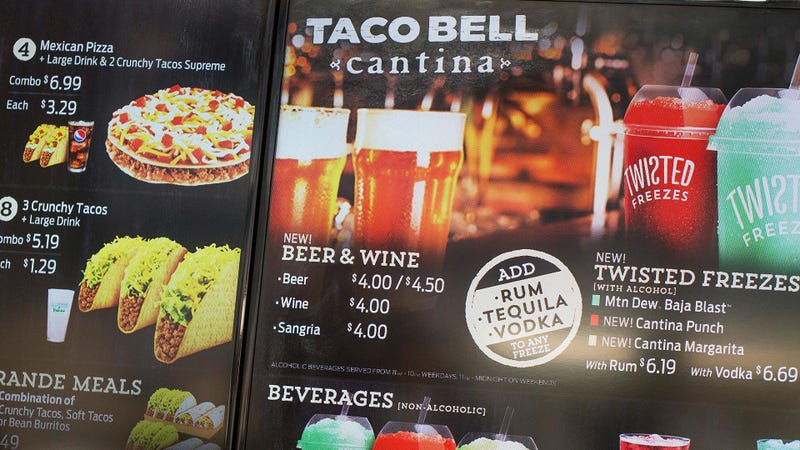 Illustration for article titled Some NYC Taco Bell Cantinas use lower-proof booze to spike drinks [Updated]