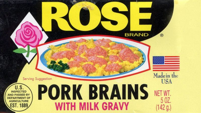 Illustration for article titled Pork brains, canned sausage, and Chang