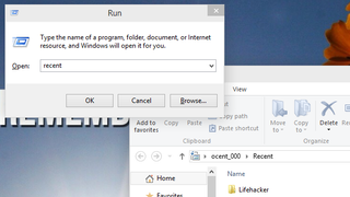 Illustration for article titled Find Recent Files in Windows with the Run Dialog