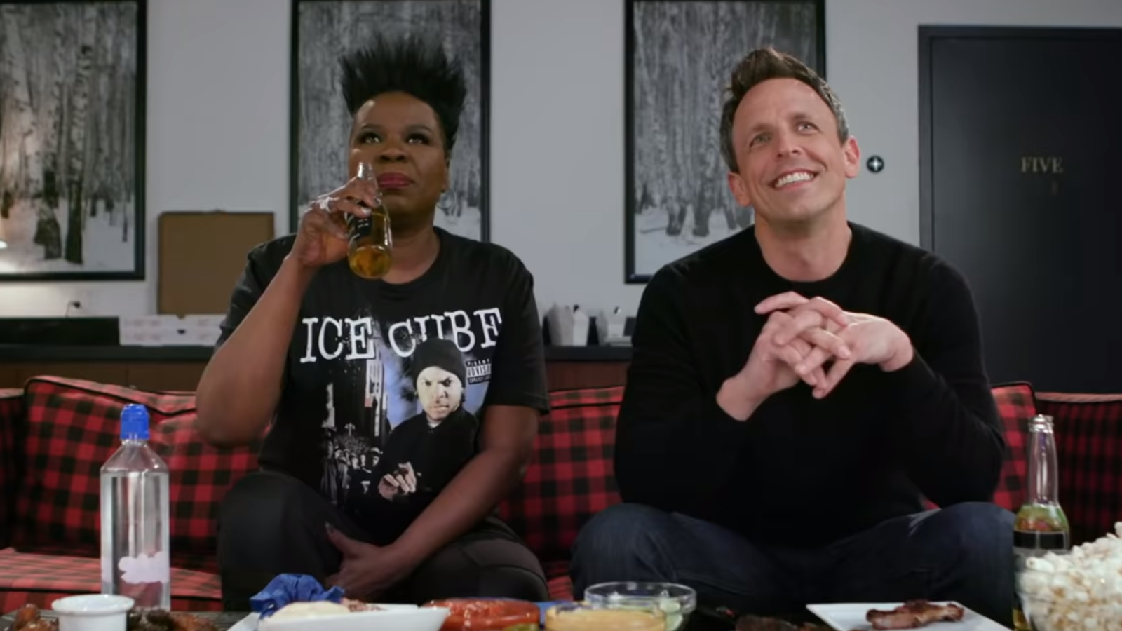 Leslie Jones Freaks Out About the Game of Thrones Premiere with Seth Meyers