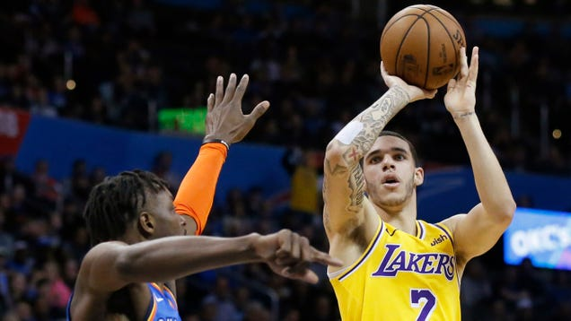 7a5d51b012d It s no secret that the consensus of Lonzo Ball on this site is that he s a  bad young player. But in the Lakers 138-128 victory over the Thunder