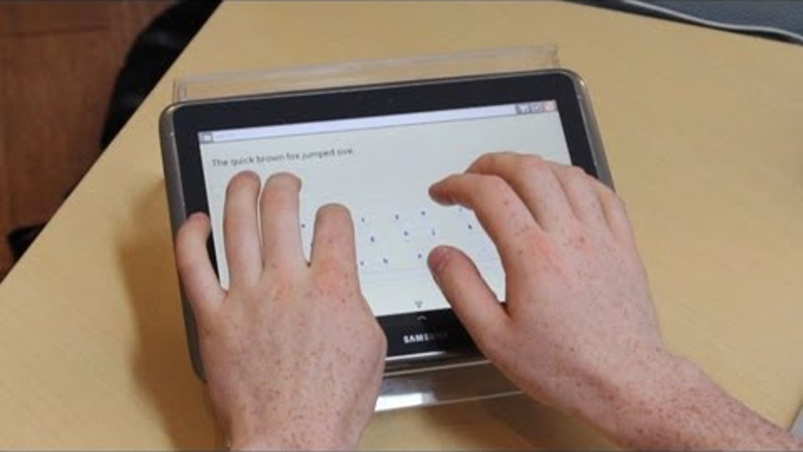 This Incredible Tablet Keyboard Transforms to Fit Your Sloppy Fingers