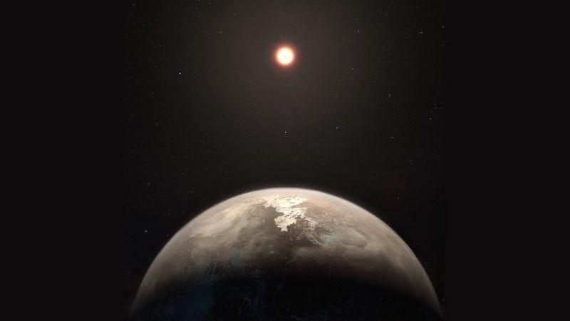 Ilustración con el posible aspecto de Ross 128b. Imagen: ESO/M. Kornmesser