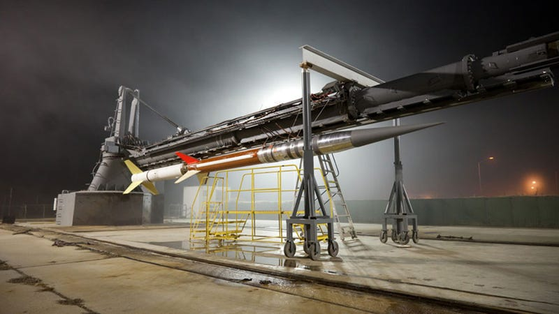 A Terrier-Improved Malemute sounding rocket which will be used on the mission. Photo: NASA