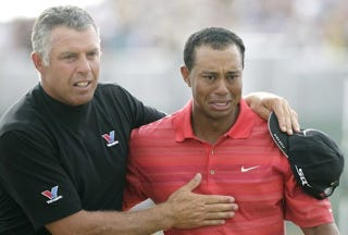 """Illustration for article titled Steve Williams Wants To Shove Something Up The """"Black Arsehole"""" of Tiger Woods"""
