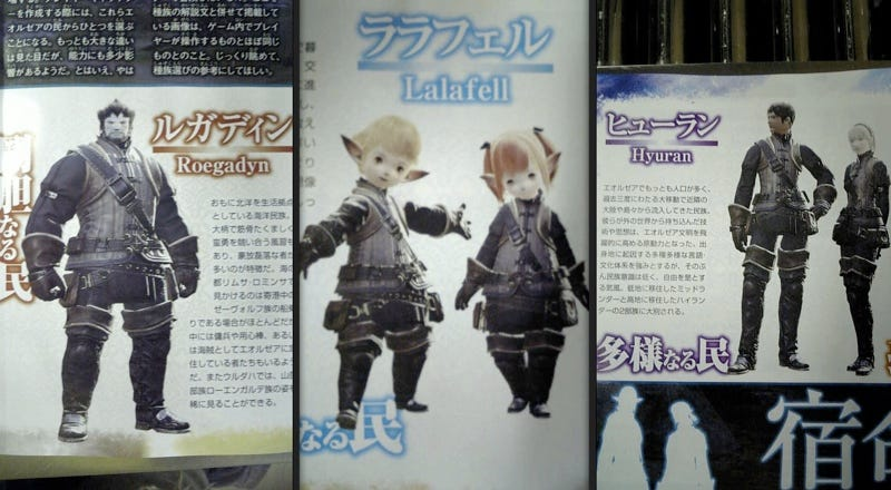 Illustration for article titled Final Fantasy XIV Jobs, Races Revealed