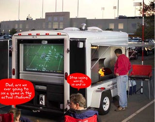 Illustration for article titled All Star Tailgating Trailer Is Dream Bachelor Flat on Wheels