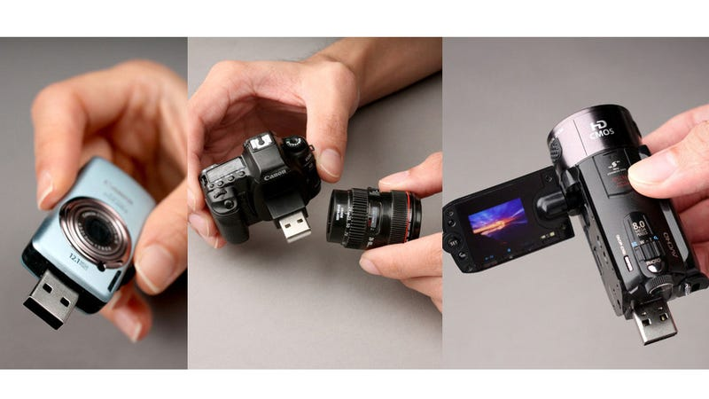 Illustration for article titled These Tiny Canon USB Sticks Don't Take Photos, Only Store 'Em