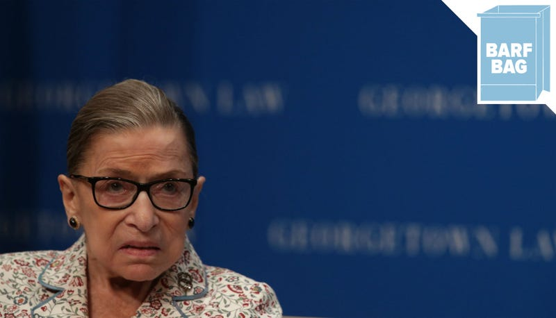Illustration for article titled Ruth Bader Ginsburg Says Brett Kavanaugh Is 'Very Decent'