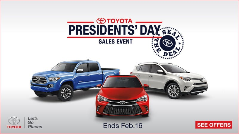 Illustration for article titled Why You Should Start Your Presidents' Day Car Shopping Now